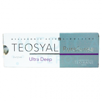 TEOSYAL® PURESENSE ULTRA DEEP 2x1.2ml 25mg, 3mg 2-1.2ml prefilled syringes