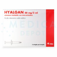 HYALGAN® Italian 5 syringes 20mg/ml 5-2ml prefilled syringes