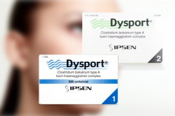 Dysport clostridium botulinum type A 300 units/via and 500 units/vial boxes.