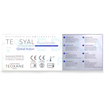TEOSYALu00ae PURESENSE GLOBAL ACTION 1mL 2 pre-filled syringes