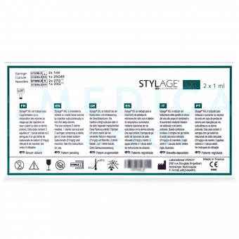 STYLAGEu00ae XXL 2x1mL 26mg/ml 2-1ml prefilled syringes