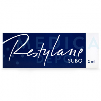 Image of RESTYLANE® SUBQ box in English